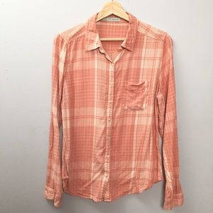 Maurices Plaid Button Down Shirt Size L